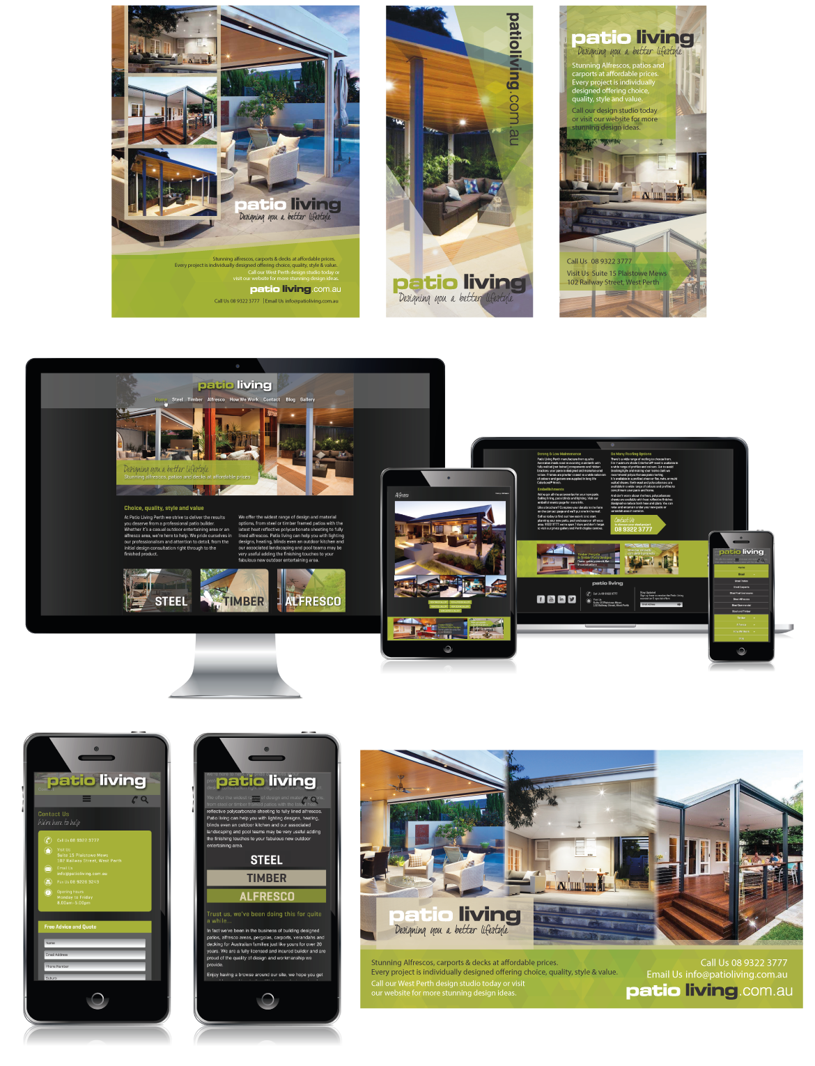 Website and Print Design for PatioLiving